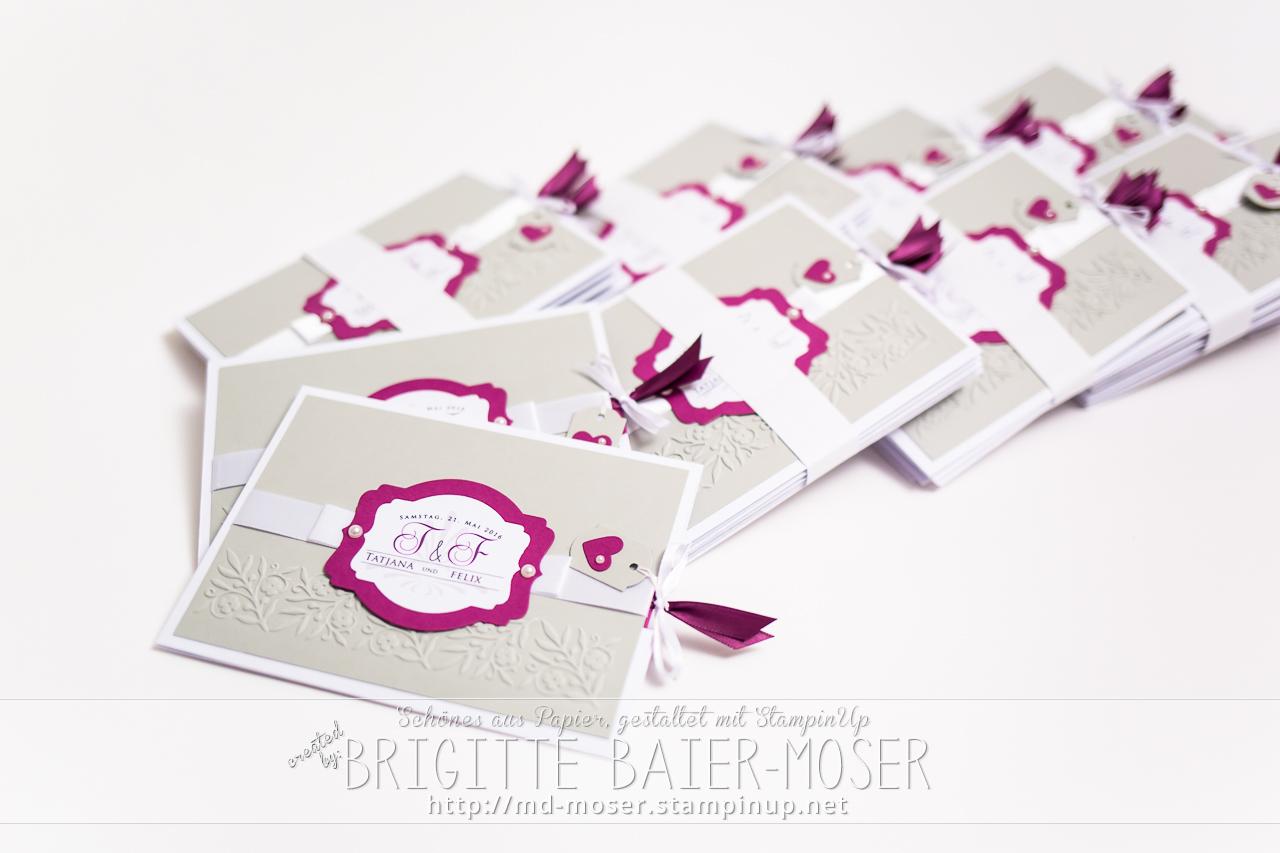 Hochzeitseinladungen (Ziehkarte)