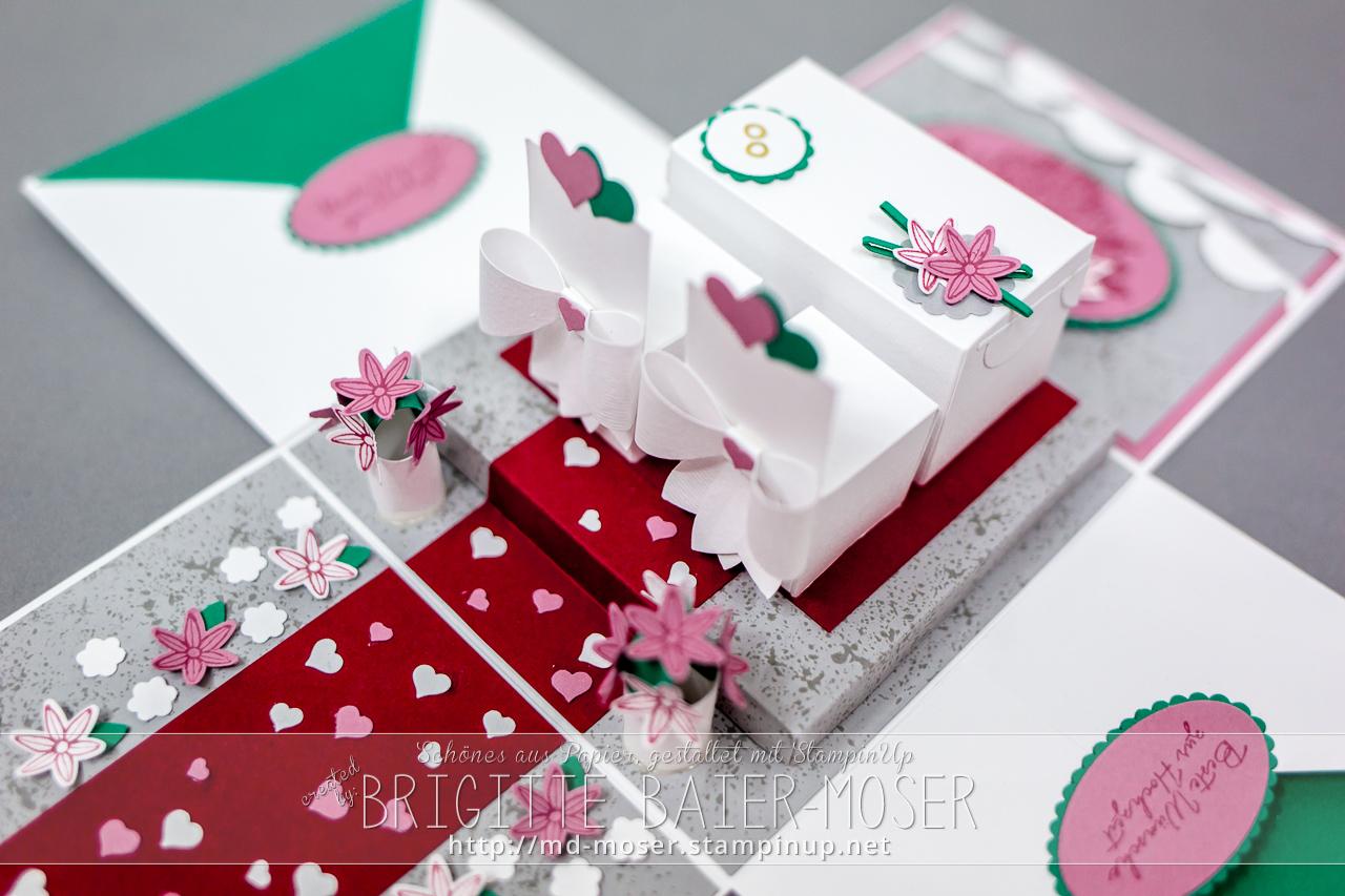 Explosionsbox Hochzeitsszene