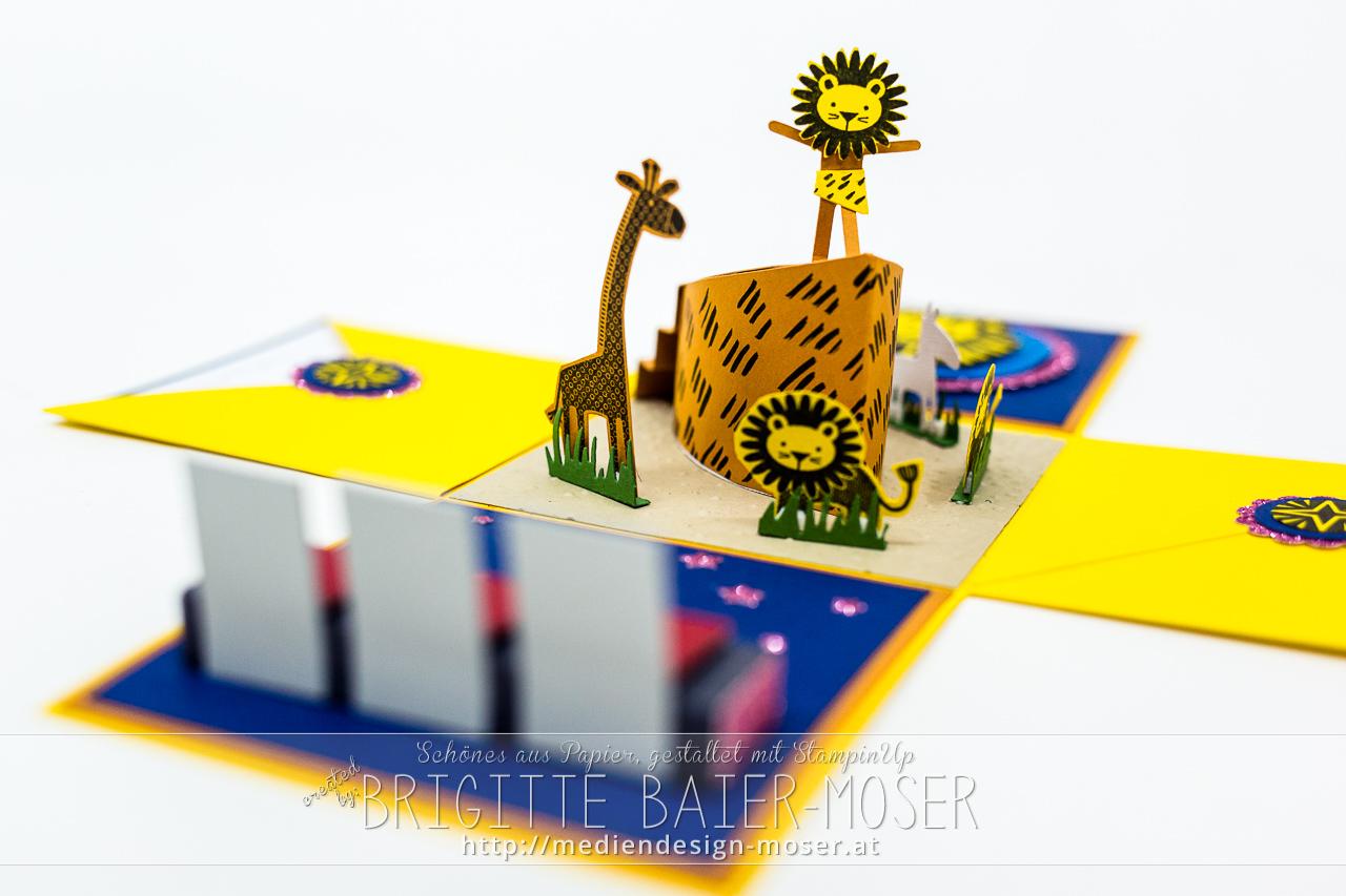 König der Löwen Musical Explosionsbox - Ansicht von vorne
