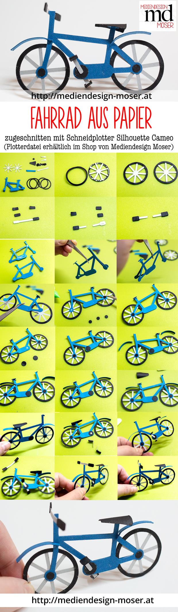 Herstellung eines Papier-Fahrrades