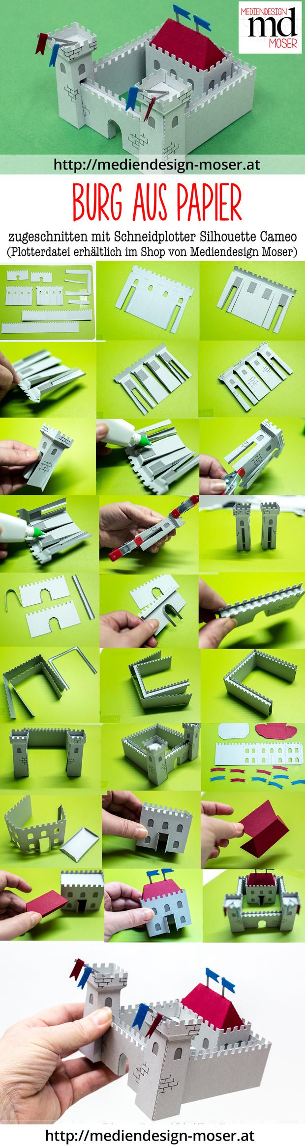 Fotostrecke Herstellung einer Burg aus Papier