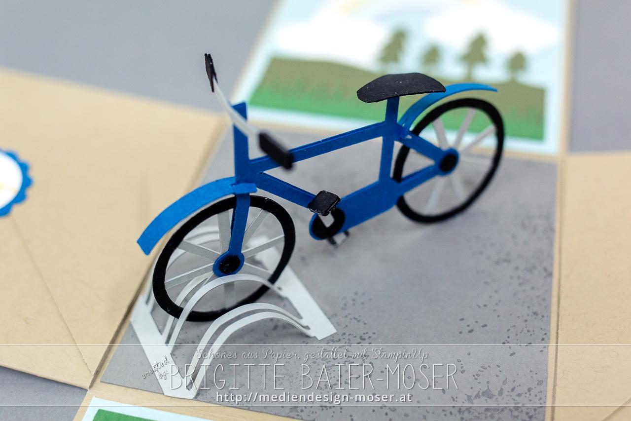 Papier-Fahrrad