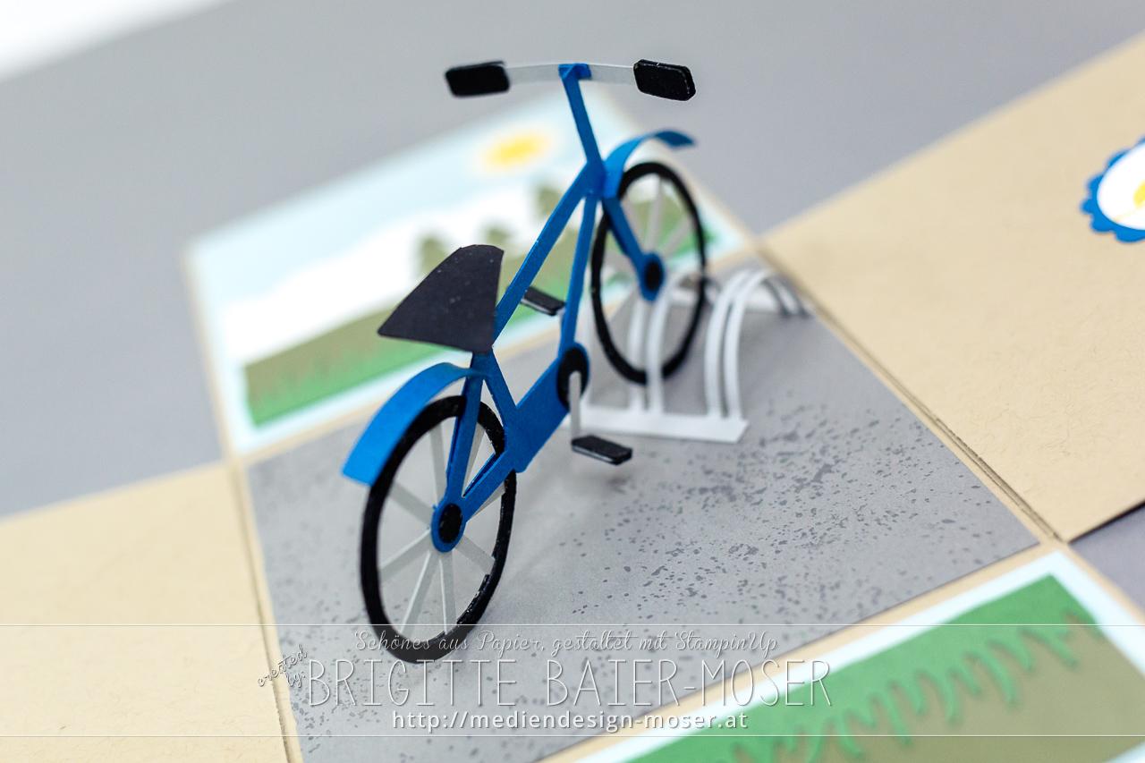 Fahrrad aus Papier