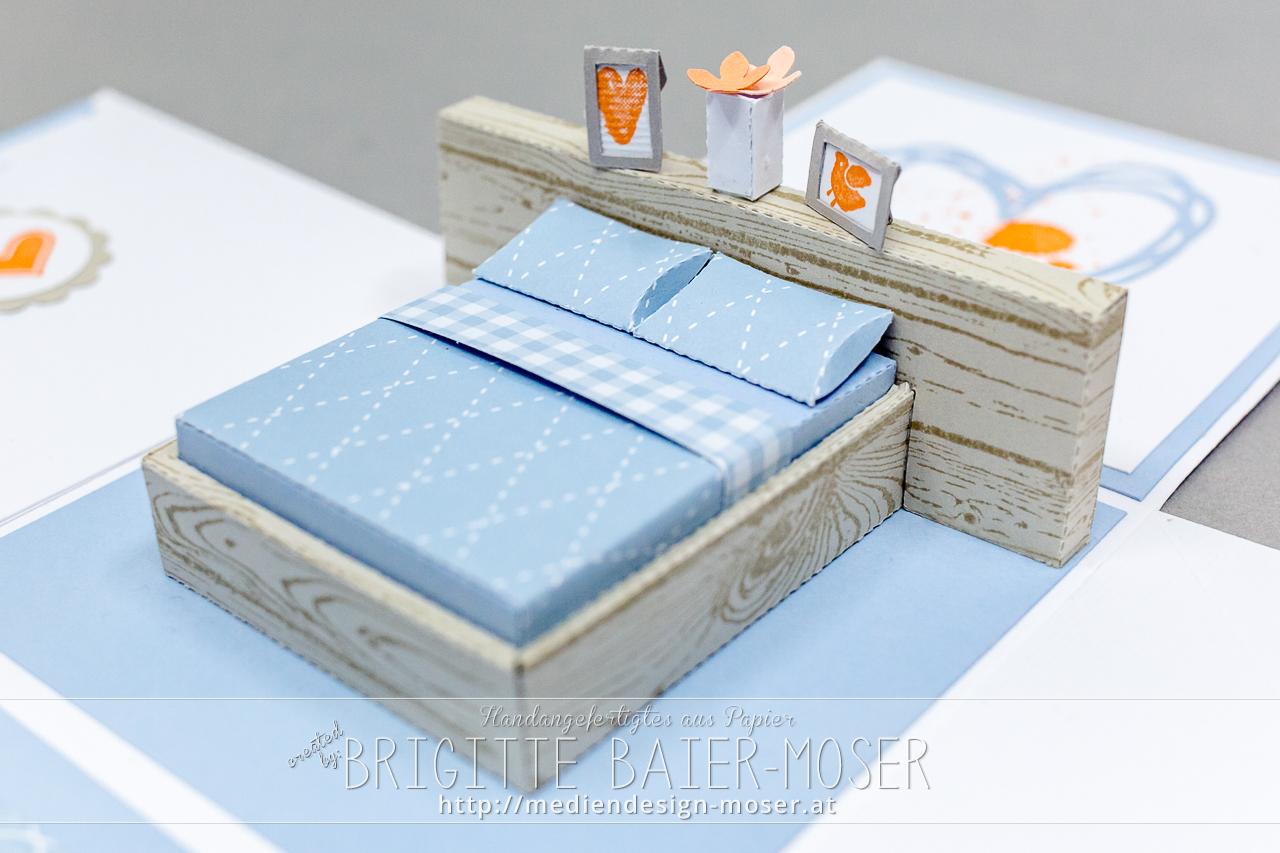 Explosionsbox mit Bett